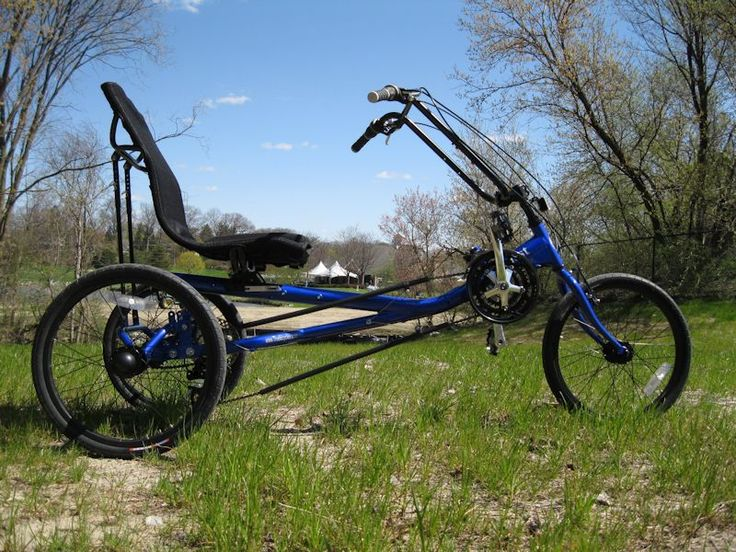 True Bicycle Quest Electric Recumbner Trike, 21 Speed,  From Industrialbicycles.com Phone 800 561-6670