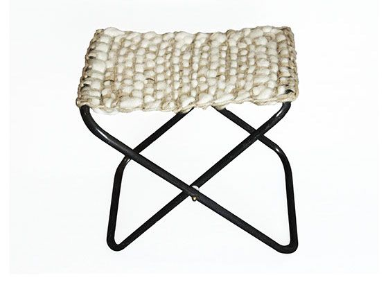 Carbono Atelier - buenos aires // Furniture Wool&Leather-Stool