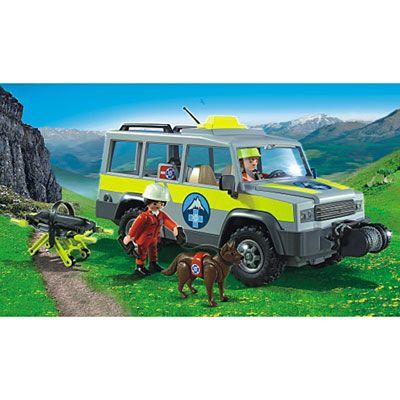 5427 Véhicule avec secouristes de montagne