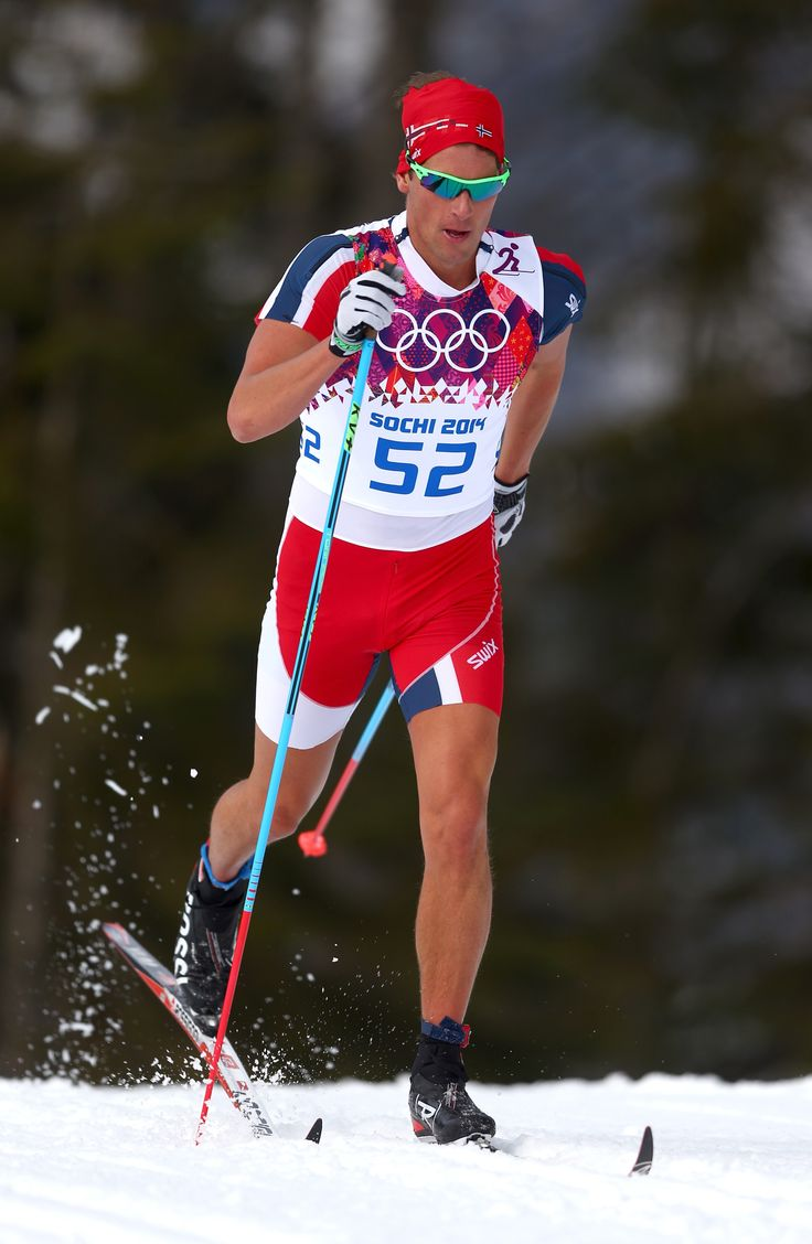 Chris Andre Jespersen of Norway competes in the Men's 15 km Classic (c) Getty Images. Winter Olympics - Skiing in Shorts.