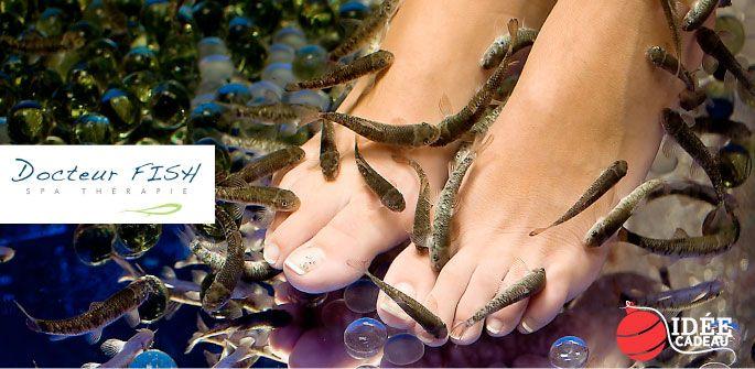 Vos pieds aussi ont besoin d'être gatés! Seulement 20$ pour une séance d'exfoliation-poisson des pieds d'une durée de 30 minutes + bonus grâce à Docteur Fish! (valeur de 40$)
