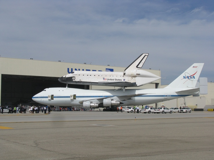 Space shuttle at LAX