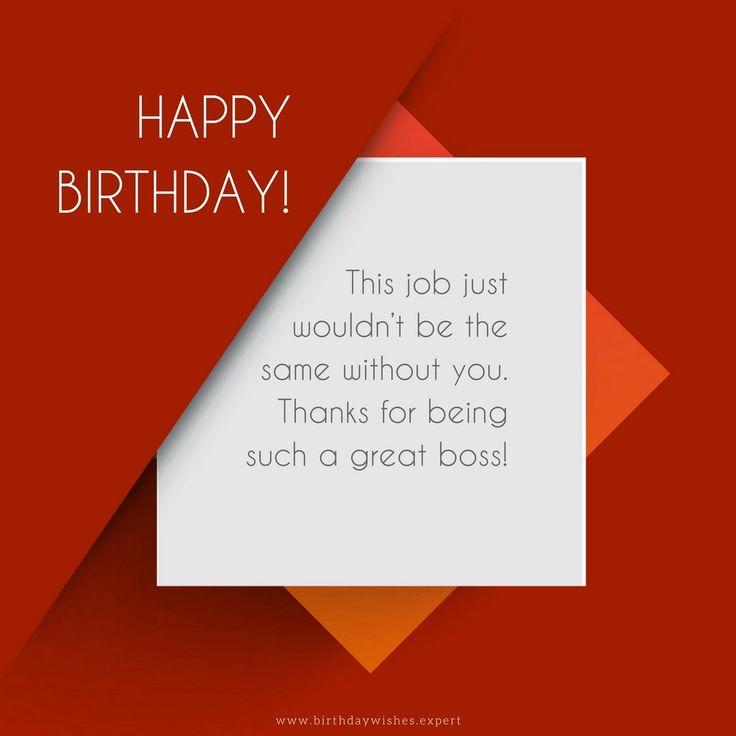 Best 25+ Happy Birthday Boss Ideas On Pinterest