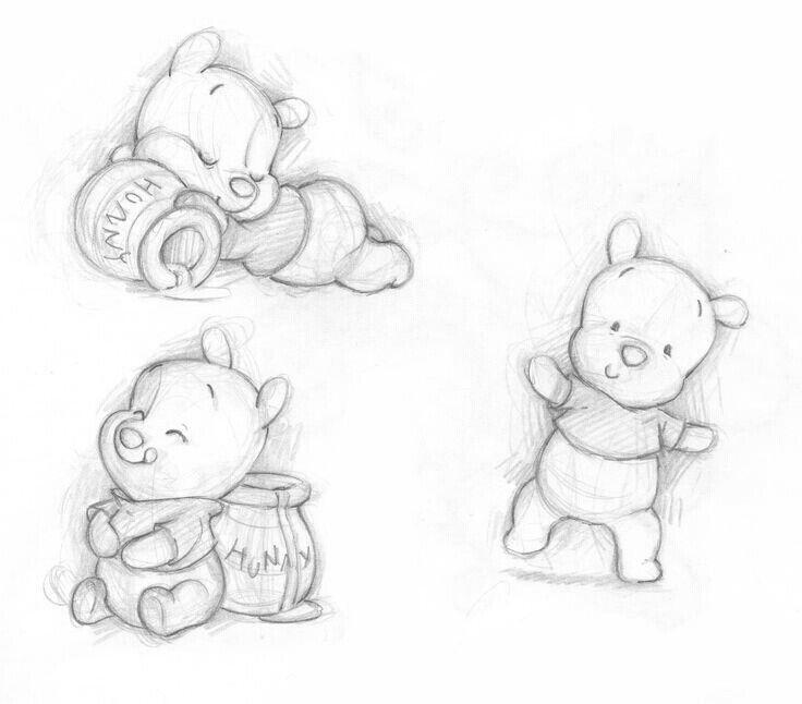 Pooh Bear Drawing Drawings Pinterest