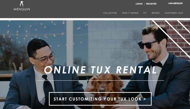 Online Tux Rentals Are The Elephant In The Room For Men's Wearhouse - other places to rent from!