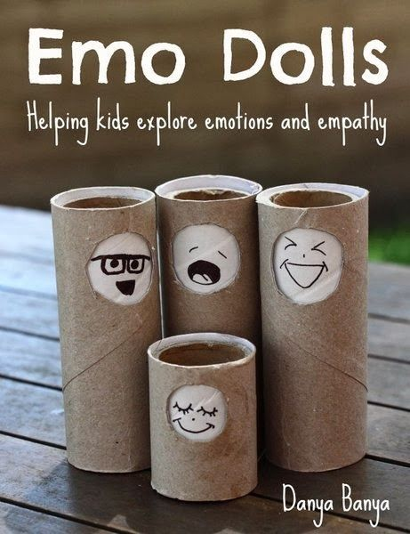 DIY educational toys from recycled materials to help preschool or kindergarten aged kids develop emotional intelligence through exploring emotions, facial expressions and empathy with play. ~ Danya Banya