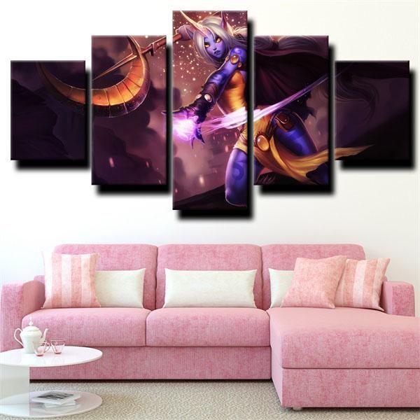 League Of Legends Auxiliary Soraka Gray Wall Art Grey Wall Art Canvas Art Wall Decor Big Wall Art