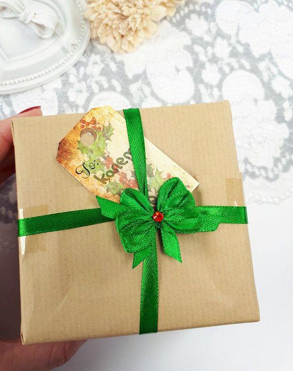 Christmas gift bows green satin ribbon bows gift wrapping