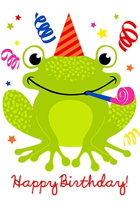 """""""A happy hopping birthday"""" printable card. Customize, add text and photos. print for free!"""