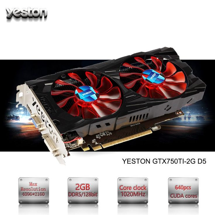 Yeston GeForce GTX 750TI GPU 2GB GDDR5 128 bit Gaming Desktop computer PC Video Graphics Cards support PCI-E X16 3.0 //Price: $154.75//     #gadgets