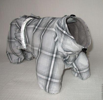 Одежда для собак, ручной работы. Ярмарка Мастеров - ручная работа. Купить Комбинезон на флисе для ши-цу. Handmade. Черно-белый