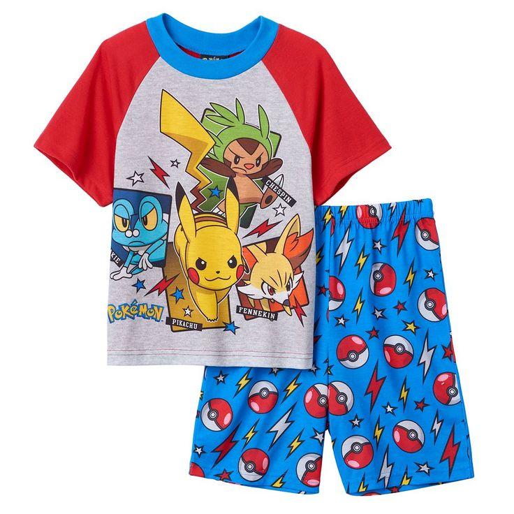 Boys 6-12 Pokemon Pikachu 2-Piece Pajama Set, Size: 12, Multicolor