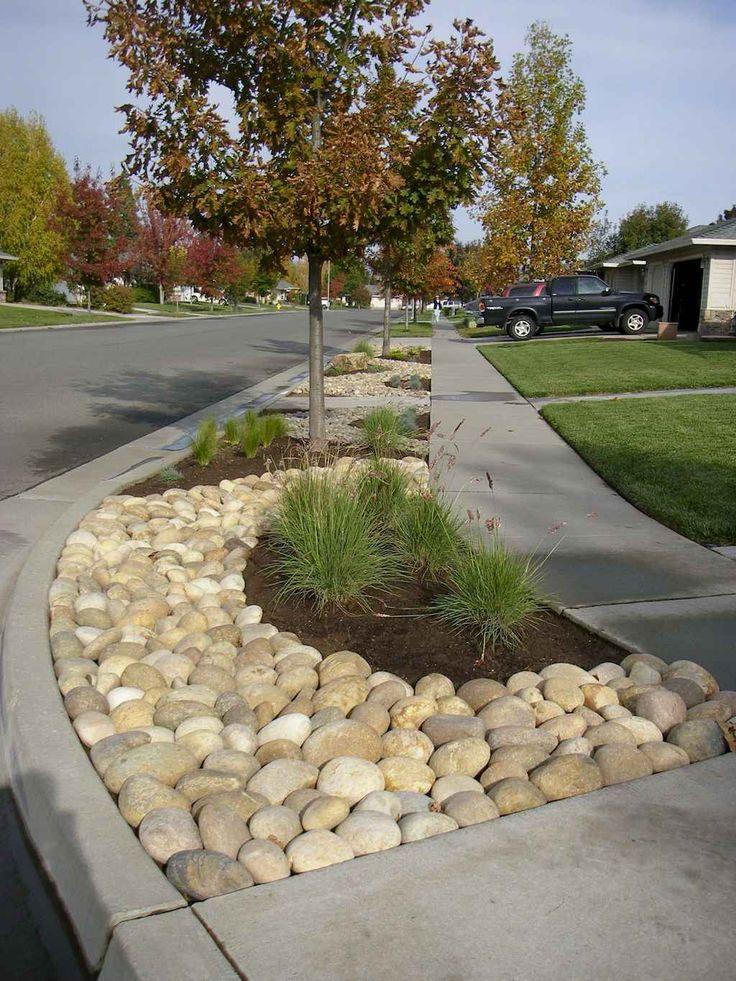 01 Gorgeous Front Yard Rock Garden Landscaping Ideas Setyouroom Com Rock Garden Landscaping Landscaping With Rocks Front Yard Landscaping