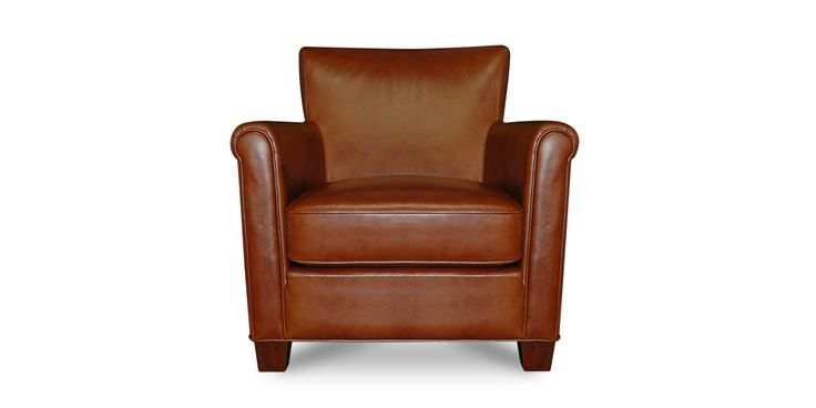 The stunning Austin Lounge Chair in a beautiful warm Vernon Cognac leather. Beautiful rounded arms and soft cushioned seats provide luxurious comfort in a beautifully styled piece.  This is the type of chair that you can match with a variety of different lounge suites and customize with your choice of cushions and/or throws to create your personal style. Austin Lounge Chair | Furniture Hunter #furniturehunters