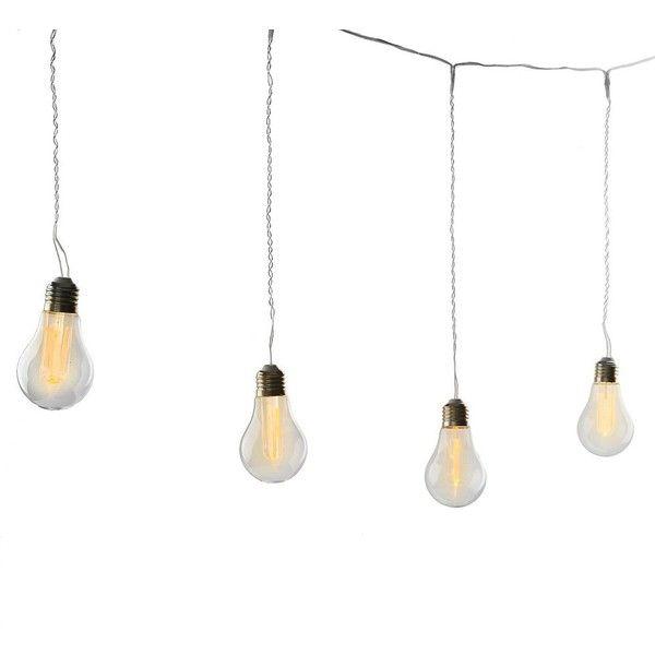 edison bulbs string lights 30 liked on polyvore. Black Bedroom Furniture Sets. Home Design Ideas
