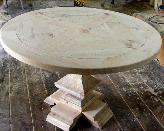 Round Dining Table Parquet Top With Handcarved by TheWoodworkMan. 24 best House  Round Dining Table images on Pinterest