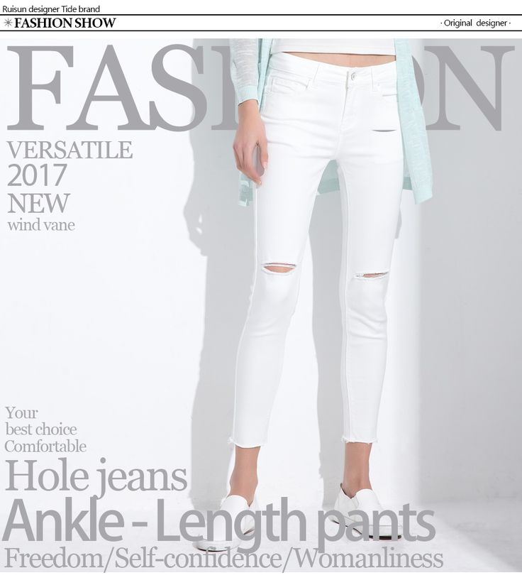Stretch Jeans Femme Denim Capri Ripped Jeans For Women 2017 Spring Woman Blue Destroyed Jeans Feminino Pencil Pantalon GAREMAY-in Jeans from Women's Clothing & Accessories on Aliexpress.com | Alibaba Group
