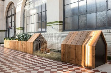"""Developed with """"social (back to basics), ecological (materials and function) and economic (local production) relevance"""" in mind. Daily Needs Modular Chicken Coop & Garden."""