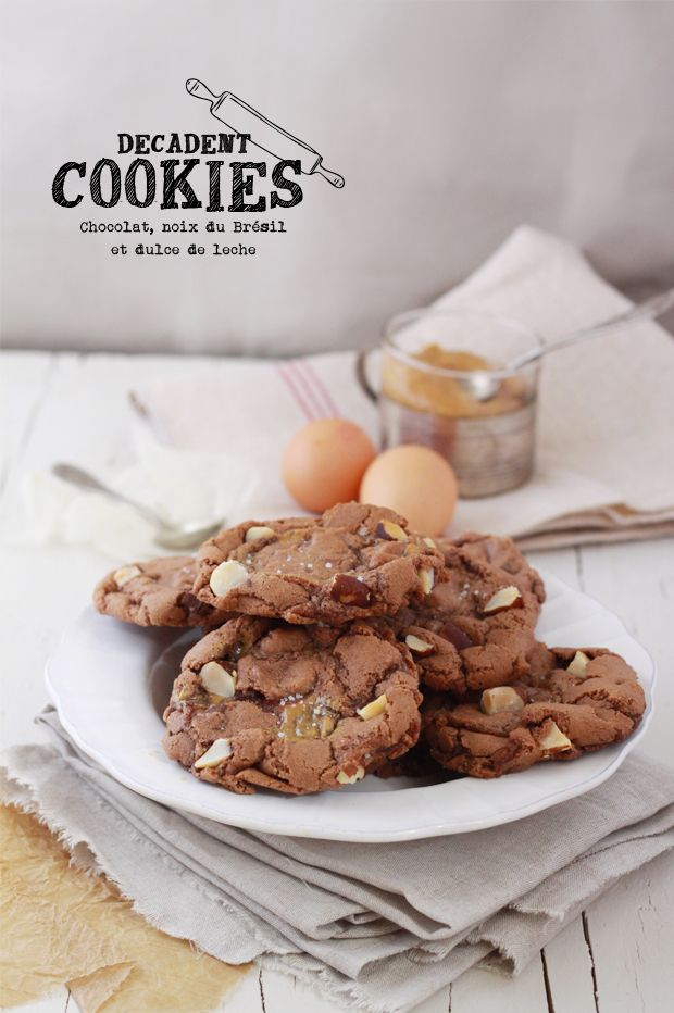 chocOlate brazil nut dulce de leche cookies