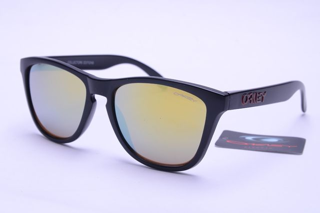 Oakley Frogskins Sunglasses Black Frame Colorful Lens B376 [OK397] - $21.88 : Top Ray-Ban® And Oakley® Sunglasses Online Sale Store- Save Up To 85% Off