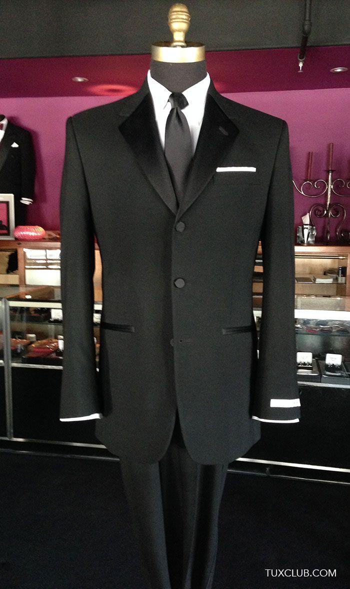 5db948e4a9fa 3 Button Notch Lapel with Black Skinny Dress Tie | Tux Shop | Tuxedo  Rentals | Suit Rentals | The Gentlemen's Tux Club San Diego | Tuxedo and  Suit Sales