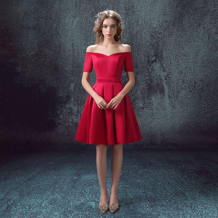 2016 nouvelle arrivée stock de maternité , plus la taille robe de mariée de soirée robe courte sexy rose rouge graduation diplômé 248 dans Robes de soirée de Mariages et événements sur AliExpress.com | Alibaba Group