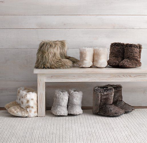 Luxe Faux Fur Booties from Restoration Hardware