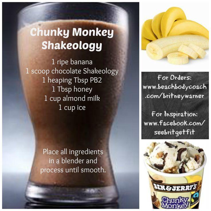 Chunky Monkey Shakeology Recipe from See Brit Get Fit Herbalife shakes Herbalife Herbalife24 Herbalifers Herbalifer
