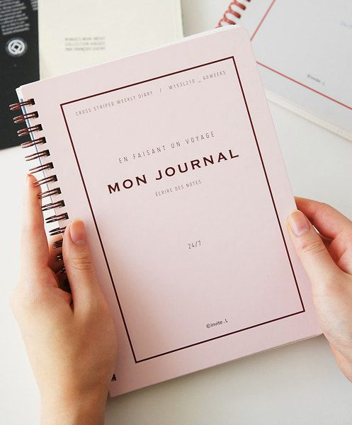 Journal / Diary / Monthly & Weekly Planner Pink / 10282197