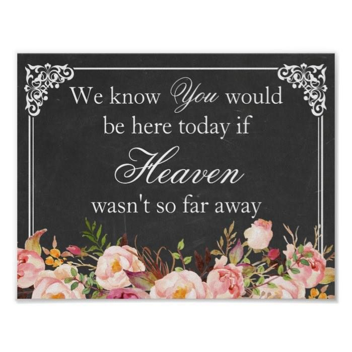 Customizable #Black#White #Blackboard #Chalkboard #Elegant #Flower #Flowers #Heart #Love #Memorial #Memory #Remembrance #Rustic #Sign #Simple #Vintage #Welcome We Know You Would Be Here | Wedding Memory Sign Poster available WorldWide on http://bit.ly/2eTqUZ1