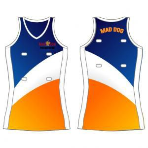 NETBALL UNIFORMS CUSTOM MADE  Get your own personalised netball uniform online with Mad Dog Promotions  Netball is one of the most participated in sports in Australia with over 300,000 organised participants, second only to aerobics according to a recent study. Mad Dog Promotions provides great quality netball uniforms online for all Australians, expertly printed in our Perth factory.