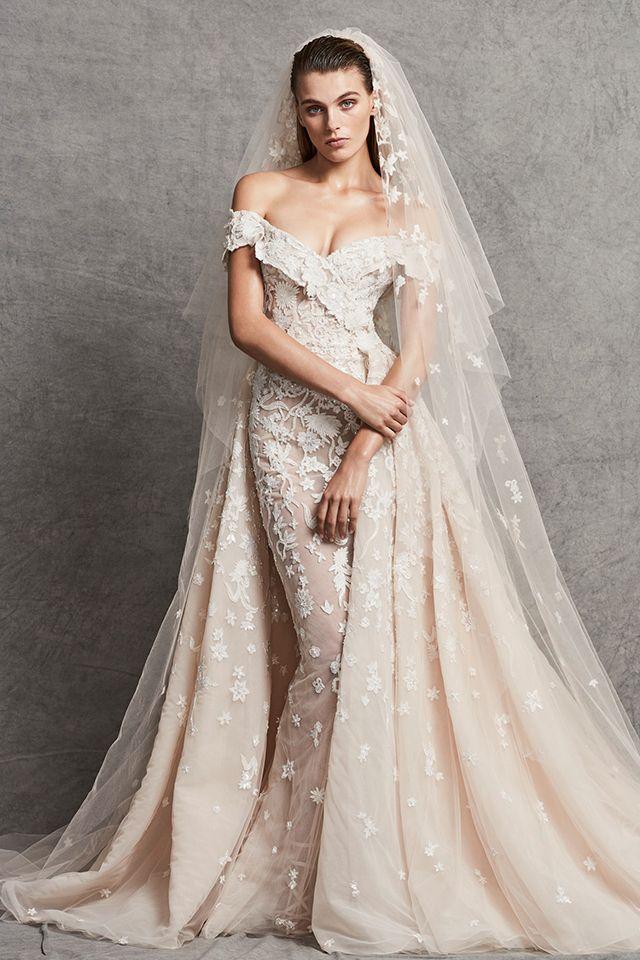 فساتين زفاف تزينها الورود وطيات التل في مجموعة زهير مراد 2018 Wedding Dresses Zuhair Murad Zuhair Murad Bridal Best Wedding Dresses