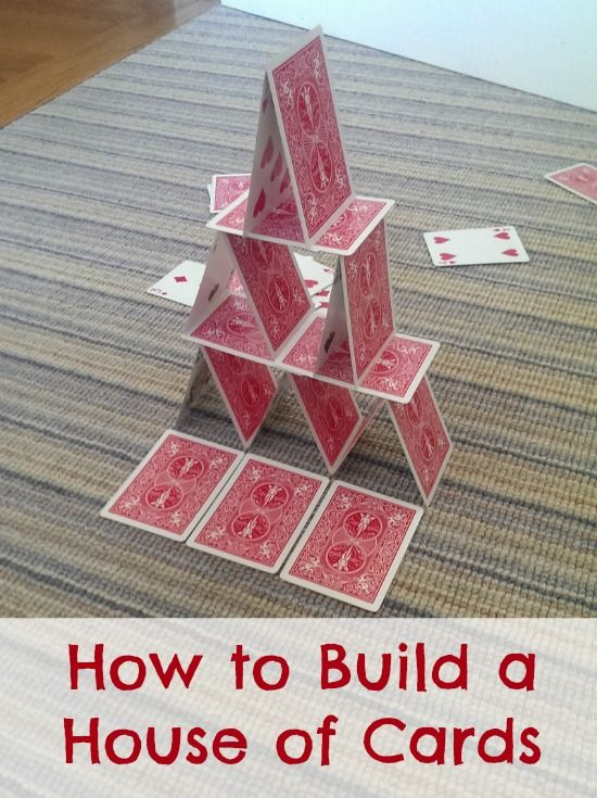 Building a house of cards is challenging and fun, and the