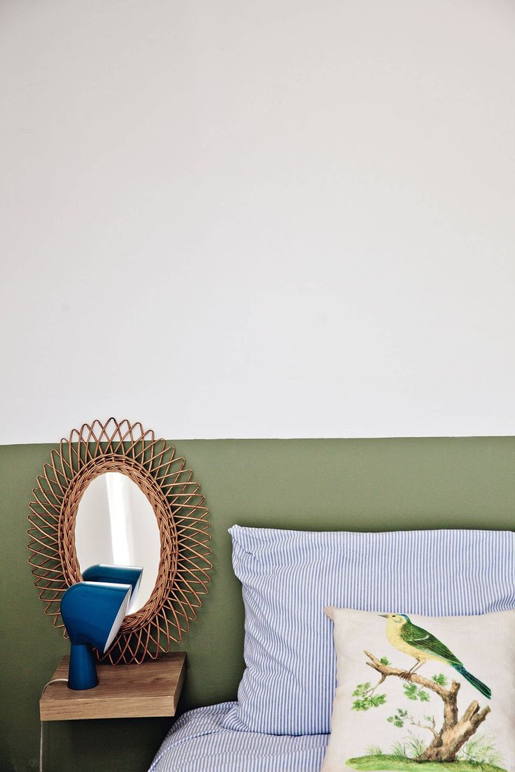 Chambre en kaki et blanc / Bedroom with green and white colors / When pictures inspired me #135 - FrenchyFancy