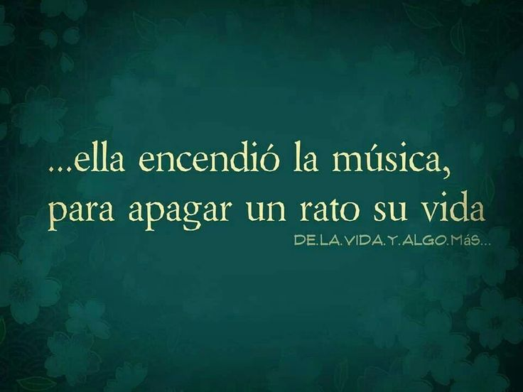 Ella encendió la música para apagar un rato su vida... Qué bonito por favor! La música parte fundamental de la vida #musica #vida #on