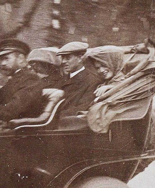 New, very high quality version of this photograph of Grand Duchess Olga Nikolaevna of Russia, with her teeth clearly showing and also Uncle Ernie clearly showing.
