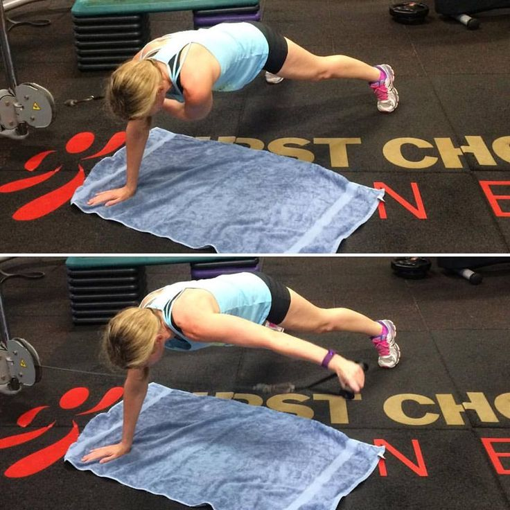 Next time you are at the gym training abdominal muscles and upper body; try this exercise Plank with Rear Deltoid Fly combo off the cable machine. Sheree kept really good form performing this exercise, keeping her body square and core switched on at all times. She's a one strong lady!