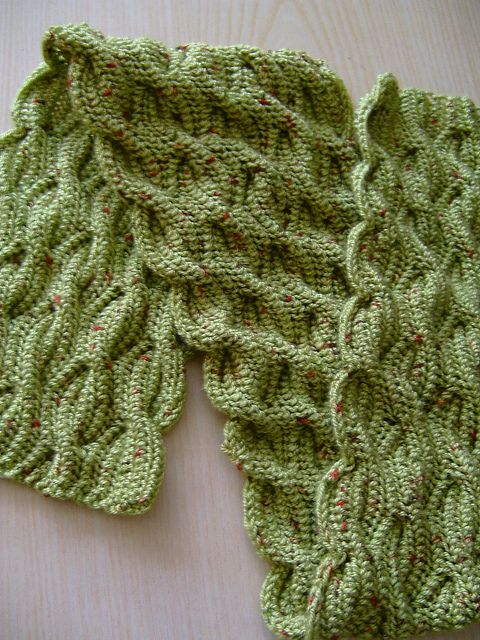 Free Brioche Knitting Patterns : Free Knitting Pattern - Scarves: Janus Scarf. This is a brioche cable stitch ...