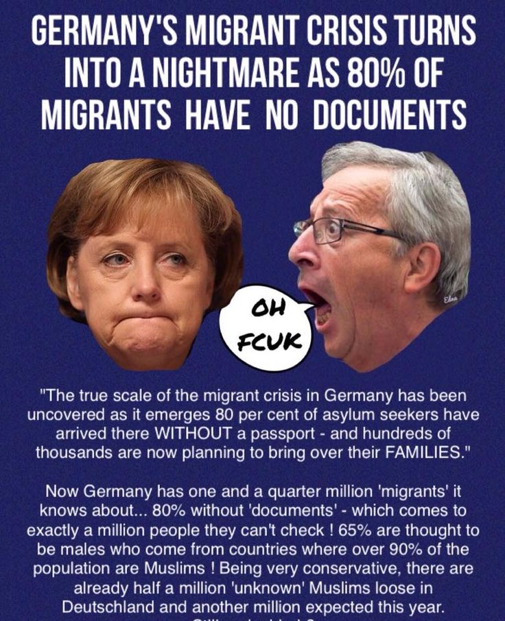 Mass immigration has been a disaster for the EU & Germany, it will change the face of Europe forever & turn Europe into the 3rd world
