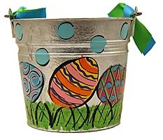 Hand Painted Easter Eggs Easter Pail The