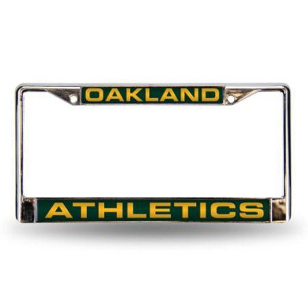 Oakland Athletics Official MLB Metal License Plate Frame by Rico 402884, Multicolor