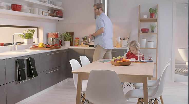 Optima kjøkkenkran passer til våre nordiske kjøkken.