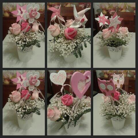Centros flores mesa
