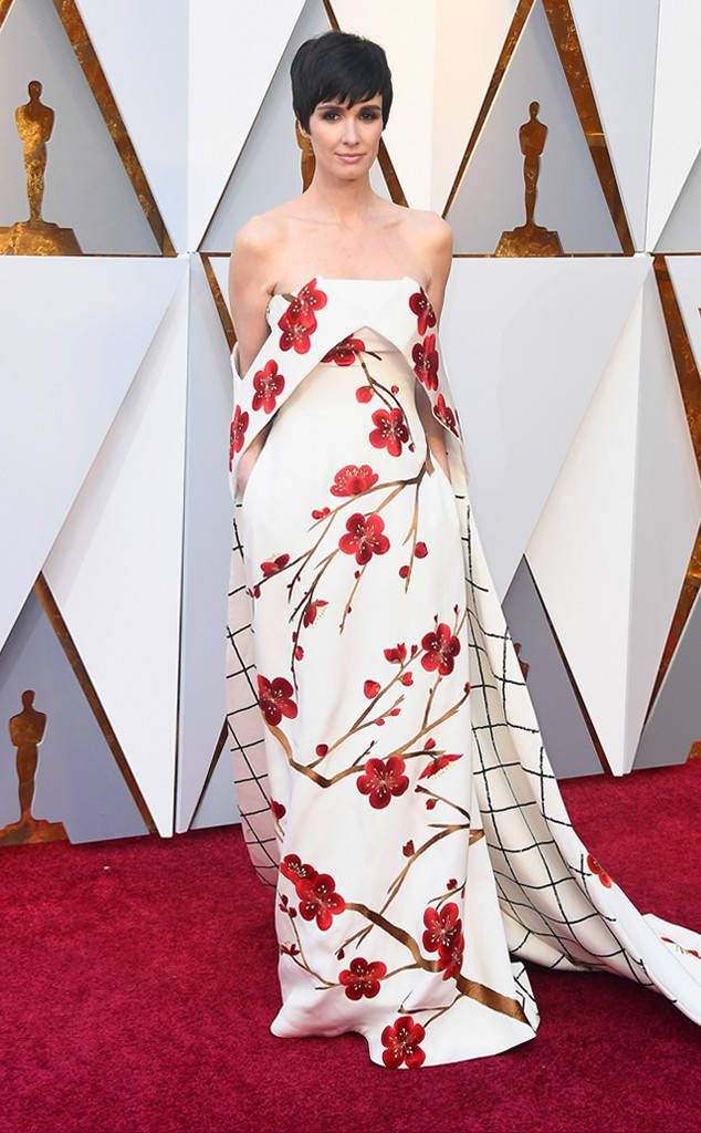 Paz Vega from Standout Style Moments From Oscars 2018  The Spanish actress taught a master class in mixing prints.