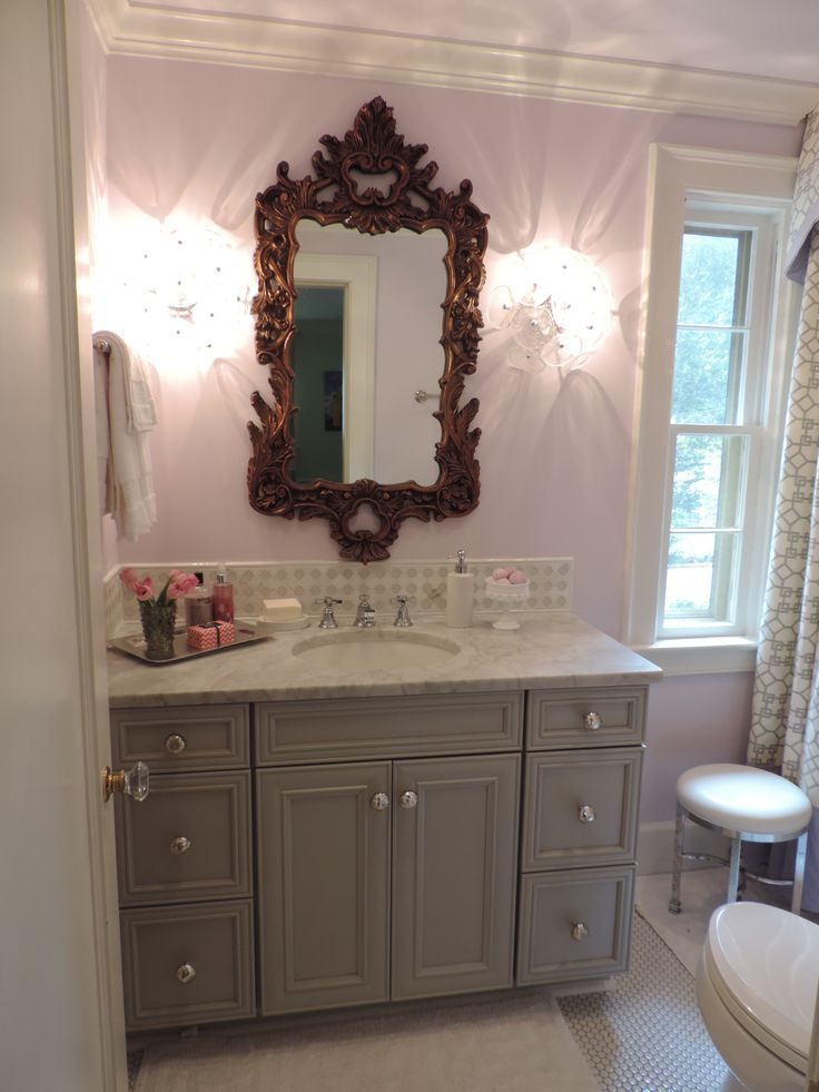 Colors bold and gray on pinterest for Bathroom decor home goods