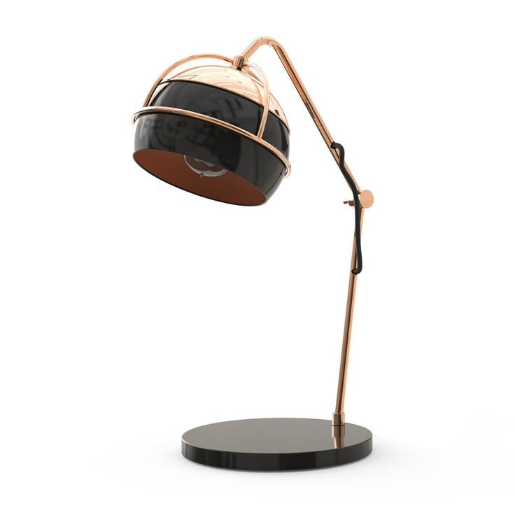 Black Widow modern table lamp becomes a unique and sublime piece of contemporary interior lighting and decor.