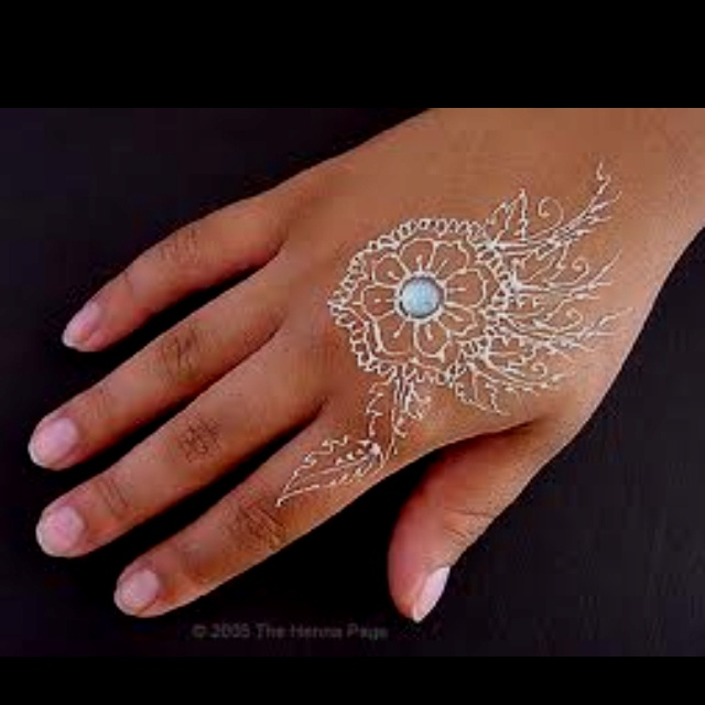 Glitter Henna Z E N Henna Tattoos White Henna