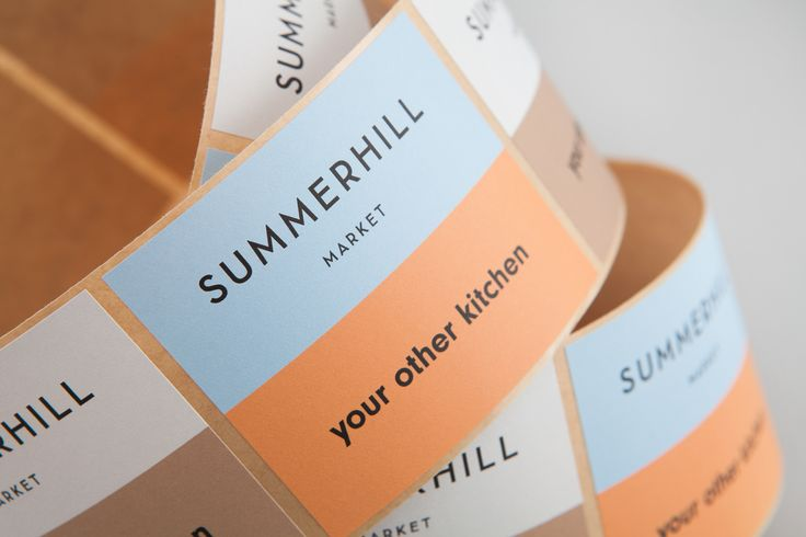Summerhill Market by Blok, Canada. #branding #stickers