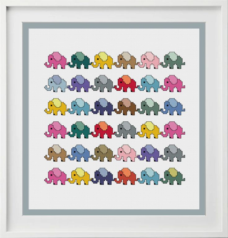 Cross Stitch Pattern Baby Elephant Instant Download Totally Templates baby-elephant-cross-stitch-chart