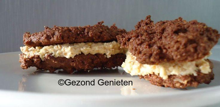 Chocoladekoekjes met cashewroom / Taart en koekjes   Gezondgenieten1.jouwweb.nl